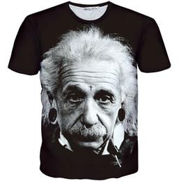 Wholesale Nice Shirts Cotton - Albert Einstein T shirt Best scientist picture short sleeve gown Nice 1991Inc design tees Street printing clothing Unisex cotton Tshirt