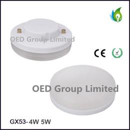 Lampara gx53 online-Lámpara de 4W 5W GX53 LED con soporte de lámpara LED de 500LM Gx53 con CE RoHS, GX53 LED Spot down techo luz