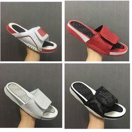 Wholesale White Flip Flops Men - Air Retro 4 Slide mens Slipper Sandals 4S slides BLACK white Red Scuffs outdoor & indoor Flip Flops men sandal shoes size 40-46