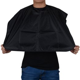 Wholesale Cutting Gown Barbers Cape - New Arrival Short Salon Hairdressing Apron Wrap Black Hair Cutting Gown Cape For Barber Hair Styling Cloth