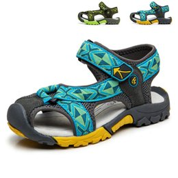 Wholesale Arrival Children Shoes - 2017 New Arrival Boys Sandals Children Sandals Closed Toe Sandals for Little and Big Sport Kids Summer Shoes Eu Size 25-38