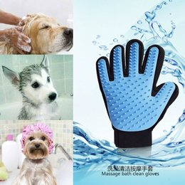 Wholesale Silicon Massage - Pet Gloves Silicon Multi Function Massage Bathe Brush Cat Dog Clean Cosmetology Tool High Quality Hot Sell 6 8pr R