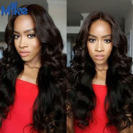 Wholesale Chinese Wavy Hair - MikeHAIR Brazilian Body Wave Hair 10 Bundles Wholesale Hair Weave Natural Color Peruvian Indian Malaysian Cambodian Wavy Hair Extensions