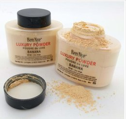 Wholesale Full Circle Lighting - New Ben Nye Luxury Powder 42g New Natural Face Loose Powder Waterproof Nutritious Banana Brighten Long-lasting 1PCS