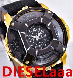 Wholesale Leather Watch Strap Italy - Italy brand brand DZ men's luxury watches men atmos clocks leather strap men's watches DZ Wrist Watch Mode horloges El reloj