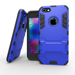Wholesale Iphone Silicone 1pcs - Cell for iphone case 5 5s 5se 6 6plus 7 7plus hight quality Silicone+ Plastic Duty 2 in 1 armour Cover Shell specimen 1pcs free shiping