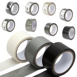 Wholesale Duct Cloth - Wholesale-Photograpic Strong Duct Tape Black White Grey Color 4.8cm Wide 10 Meters Long Waterproof Thick Fabric Adhesive Cloth Tape