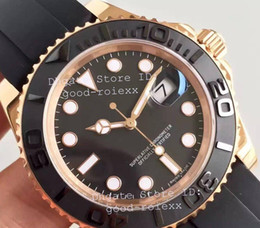 Wholesale Rose Calendars - Luxury Noob Factory V7 Edition Mens Automatic Eta 3135 Watch Men Rose Gold Calendar 116655 Sport Watches Dive Swiss Rubber Wristwatches