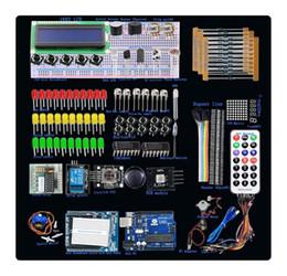 Wholesale Starter Motors - UNO R3 Starter Kit Step Motor Servo 1602 LCD Breadboard LED resistor for Arduino 106E-VBD14V2