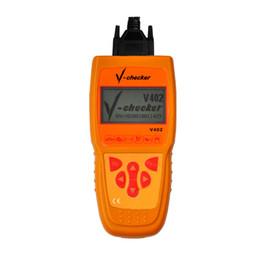 Wholesale Volkswagen Vw Tools - V-Checker v402 VAG scanner for Volkswagen VW for Skoda for Seat Oil reset tool car diagnostic tool OBD code reader