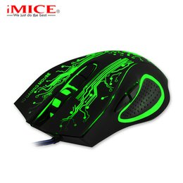 Wholesale Lol Led - Wholesale- 2017 New Professional Gaming Mouse LED Optical USB 6D Wired Computer Cable Mice for Laptop PC Desktop For Pro Gamer CSGO LOL