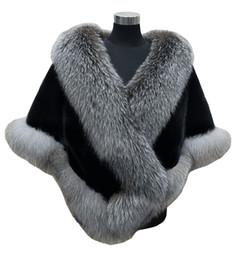 Wholesale Faux Wrap Dresses - Autumn winter 2018 newest long fox faux fur bridal Wraps evening dress shawl cloak scarf female Party Cocktail Keep Warm