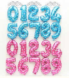 Wholesale numbers digits - Wedding Decor Baloons Christmas Holiday Supplies 16 inch Number Foil Balloons Birthday Party Digit Ballons