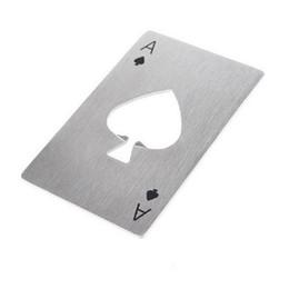 Canada Élégant Poker Carte À Jouer Ace of Spades Bar Outil En Acier Inoxydable Soda Bouteille De Bière Cap Opener Cadeau WA2068 cheap eco play Offre