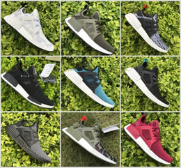 Wholesale Grey Wool Socks - NMD XR1 Runner Duck Camo X City Sock Green White Mastermind Japan Skull Pk Wool Boost Top quality Fashion Athletic Running Shoes Size 36-46