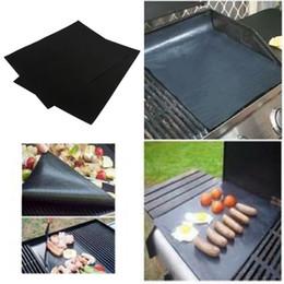 Canada 2pcs / set BBQ grill mat pour barbecue grill feuille cuisson et cuisson au four à micro-ondes et utiliser noir promotion Offre