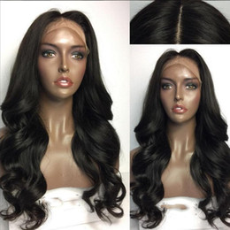 Wholesale Women Bangs Style - 2017 Hot Style 100% Glueless Synthetic Lace Front Wig With Bangs Hair Wig Heat Resistant Cheap Female Wig Perucas Wigs for Black Women