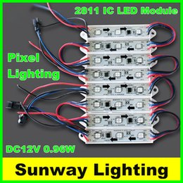Wholesale Led 2811 - Outdoor sign Pixel LED Lighting 5050 3 Led Module Light 12v addressable 2811 IC color changing rgb modules for channel letters CE UL