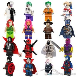 Wholesale New set Marvel Building Blocks Super Hero Hydra Captain America Spawn Atom Doctor Strange Mini Toys gifts for children