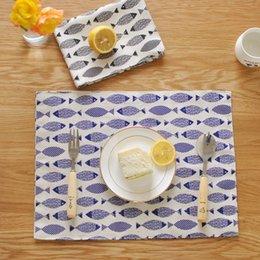 Wholesale Cotton Cloth Napkins Wholesale - Wholesale- Japanese minimalist cloth placemats fish table mat double insulated cotton mat factory direct sales table pad napkin
