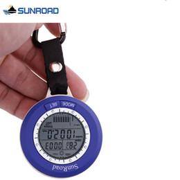 Wholesale Waterproof Fishing Watches - Pocket Digital-watch Hours Waterproof Fishing Climbing Military Sports Men Women Watch Barometer Thermometer FOB Digital Watch