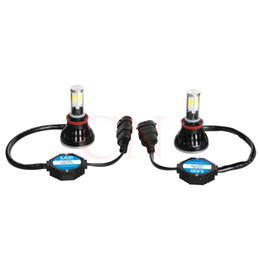 Wholesale Drl Light Kit - DHL SHIPPING 80W H11 COB Led Car Headlight Light Bulb Canbus 6000K Auto DRL Fog Driving Lamp Kit All In One
