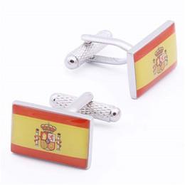 Gioielli spagna online-Everlasting Shine Regno di Spagna Espana Flag Party Accessori da uomo Gemelli Regalo Gioielli migliori