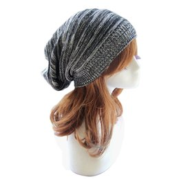 Wholesale Popular Brand Knitted Hats - Wholesale-2016 Female Fashion Popular style Classic Design Hat Knit Baggy Beanie Beret Winter Warm Ear Protect brand cap &p1