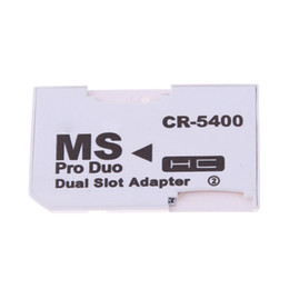 Wholesale Ms Pro Duo Adapter - New Hot Sale Dual 2 Slot Micro For SD SDHC TF to Memory Stick MS Card Pro Duo Reader Adapter For PSP