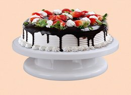 Wholesale Turntable Cake Display Stand - 28cm Cake Turntable Cake Rotating Icing Decorating Revolving Kitchen Display Stand Turntable 11 inch DIY Plastic Cake Stand