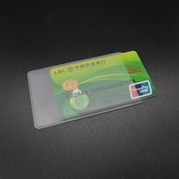 Wholesale Pvc Id Cards - Waterproof Pvc Id Credit Card Holder Silicone Plastic Card Protector Case To Protect Credit Cards Bank Cardholder Id Card Cover