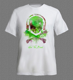 Wholesale High Fashion Music - Design T Shirt Men'S High Quality Ibiza Techno Dance Music Rave Skull House Dj Club Acid T Shirt Men Short Sleeve T-shirt
