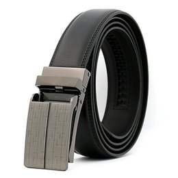 Wholesale Man Cow Leather Belt - 2017 new model Automatic buckle belts for man Fashionable comfort Click cow Leather TV Belt wholesale business style