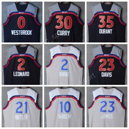Wholesale Brown Butler - All Star Basketball Jerseys 2017 All-Star Brown 0 Russell Westbrook 35 Kevin Durant 21 Jimmy Butler 23 LeBron James 34 Giannis Antetokounmpo