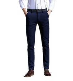 Wholesale Business Casual Clothes For Men - Wholesale- Casual Pants For men Business fashion Work Summer spring cotton Hot new 2016 Slim Straight Men Trousers men's clothing Gent Li