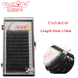 Wholesale Eyelash Extensions C Curl - Newcome Korea Extension eyelash thickness 0.05-0.25cm length 8-15cm curl b c d individual makeup tools with free shipping