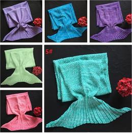 Wholesale Super Soft Bedding - Mermaid Tail Blanket 140*70cm Adult Soft Super Warm Sofa Blanket 10 colors Sleeping Bag Kids Bedding Wrap 10pcs 4624