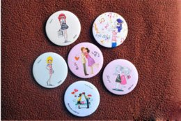 Wholesale Cartoon Veins - Lovely Cute Cartoon Pattern Small Makeup Mirror Compact Mirrors,Fashion Portable Grooming Mirror Simple Mirror for Make Up Tools