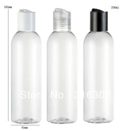 Wholesale Plastic Bottle Shampoo - Free shipping - 200ml Clear pet bottle with disk cap, 200cc shampoo bottle,100ml 150ml 250ml is available