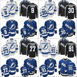 Wholesale Red Bishops - 2017 Men's Tampa Bay Lightning Men's 91 Steven Stamkos 9 Tyler Johnson 30 Ben Bishop 77 Victor Hedman Jerseys Stitched