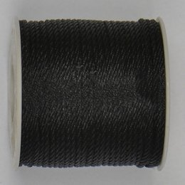 Wholesale Rolled Threads - 3mm Black Twisted Twine Thread Nylon Cord+Jewelry Accessories Macrame Rope Shamballa Bracelet Necklace String Cords 30m roll