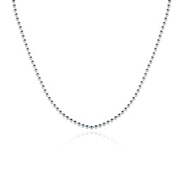 Wholesale thin stainless steel necklace chain - Fashion Jewelry 925 Silver 1mm Beads Chain Necklace Thin Beads Necklaces Fit All Pendant Necklaces Free Shipping