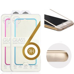 Wholesale Titanium Glass Designs - For iphone8 X Tempered Glass Full Cover Screen protector Ultra-Thin 3D Curved Edge Titanium Alloy Design For iphone7 7 plus 6 6plus 5 5s