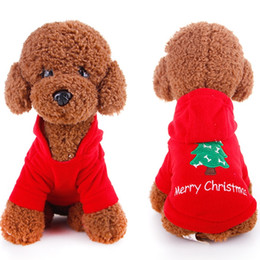 Wholesale Dog Red Costume - 5Pcs Brand New Christmas Pet Dog Cat Winter Clothes Puppy Warm Coat Four Legs Lovely Cloth Free Shipping[FSA0003*5]