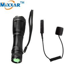 Wholesale Pressure Switch Flashlight - LED torch CREE XM L T6 4000 Lumens Torch Adjustable led tactical flashlights Linterna for Hunting Remote Pressure Switch