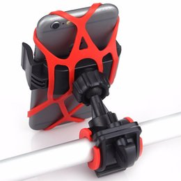 Wholesale Mountain Bracket - Bicycle Mountain Bike Cycling Holder Tight Handlebar Phone Trestle Car Smartphone Rack Stand Clip Quadrangle Bracket For iPhone7 Android