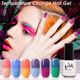 Wholesale Color Change Nail Polish Wholesale - Wholesale- FOCALLURE 7ml Color Changing Temperature UV Gel Nail Polish Gel Need UV Lamp Curing 30 Colors Gel Nail Art