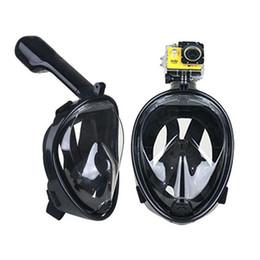 Wholesale scuba snorkeling mask - 2017 Hot Selling Underwater Diving Mask Snorkel Set Swimming Training Scuba mergulho full face snorkeling mask Anti Fog