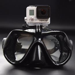 Wholesale Mask For Underwater - Hot Selling Professional Underwater Diving Mask Snorkel Set Scuba Snorkel Swimming Goggles for GoPro SJCAM Sports Camera Diving Snorkel Set