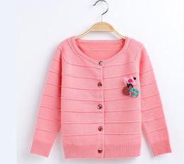 Langer cuffed pullover online-Heiße Art Kinder, die Herbst- und Winterstrickjacke Mädchen langärmeln und Hülsensaum-Stulpenwolljacke W17JS314 kleiden